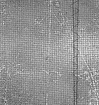 Vintage black and white. File #77-110. Screen with abstract image of face.