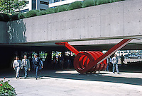 "Vancouver: Law Courts--Robson Square. Sculpture: Chun Hung, ""Spring"", 1981.  Photo '86."