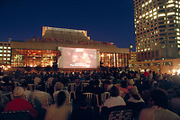 Montreal (Qc) CANADA - 1994 world film festival outdoor projection