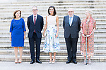 Queen Letizia of Spain (c) visits Biblioteca Nacional with their president (r) and Culture Minister (l) Jose Guirao . July 30, 2019. (ALTERPHOTOS/Francis González)