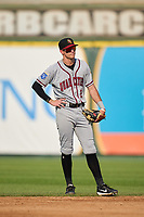Quad Cities River Bandits shortstop Nick Loftin (2) during a game against the South Bend Cubs on August 20, 2021 at Four Winds Field in South Bend, Indiana.  (Mike Janes/Four Seam Images)