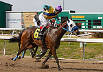 7 February 2009:  Jockey John Jacinto and Precious Kiss overtake Classify to win the Pan Zareta Stakes on Risen Star Stakes Day at the Fair Grounds Race Course in New Orleans, Louisiana.