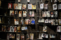 RWANDA, Kigali, Kigali Genocide Memorial , a museum and memorial to remember the genocide of 1994 where about 1 million Tutsi were murdered by Hutu, family images of murdered Tutsi victims / RUANDA, Kigali, Voelkermorddenkmal, Museum, Denkmal und Ruhestaette fuer 250.000 Opfer des Genozids an der Tutsi Bevoelkerungsgruppe im Jahr 1994, Kigali Genocide Memorial, Familienfotos ermordeter Tutsi