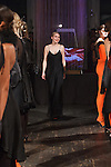 """Fashion designer Katie Gallagher thanks audience for attending her Katie Gallagher Fall 2017 """"Hallow"""" collection fashion show, at 72 Allen Street on February 9, 2017 at New York Fashion Week Fall 2017."""