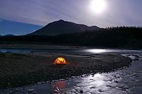 Winter camp along the Koyukuk River, Wiseman, Alaska