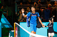 Rotterdam, The Netherlands, 11 Februari 2020, ABNAMRO World Tennis Tournament, Ahoy, <br /> Hubert Hurkacz (POL). <br /> Photo: www.tennisimages.com