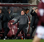 26.01.2020 Hearts v Rangers: Daniel Stendel celebrates at full time