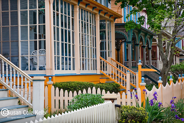 Victorian cottages in Cape May, NJ, USA