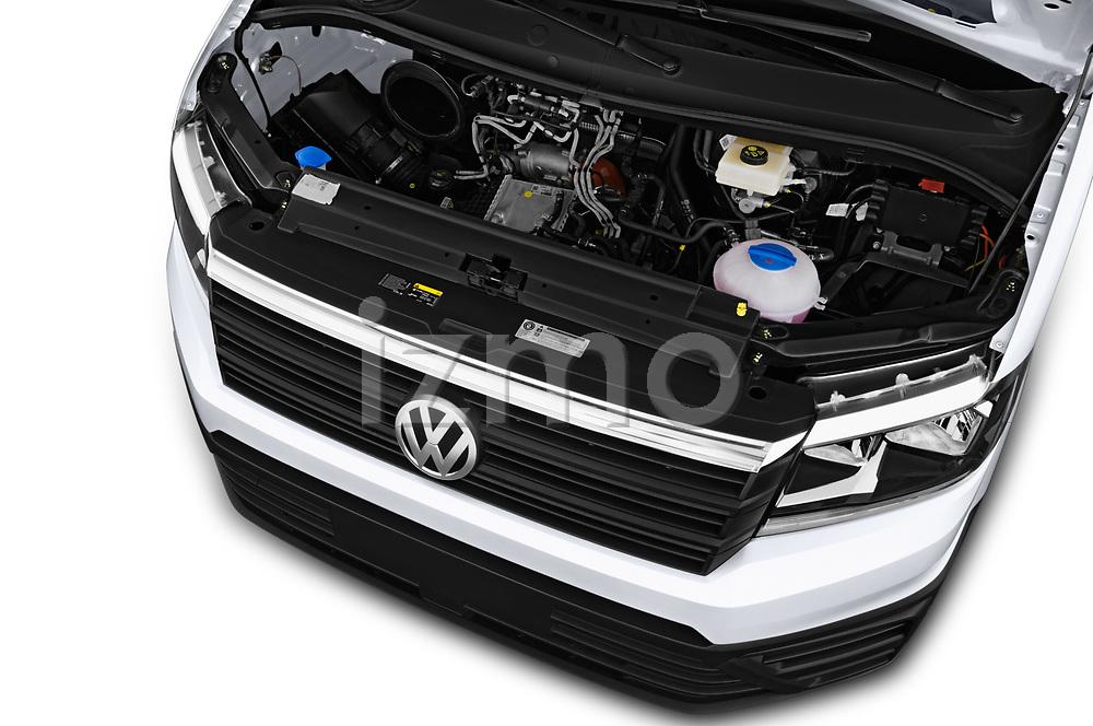 Car stock 2017 Volkswagen Crafter Base 4 Door Cargo Van engine high angle detail view