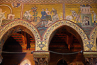 Byzantine mosaics depicting scenes from the Bible in the Cathedral of Monreale - Palermo - Sicily Pictures, photos, images & fotos photography