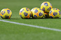 Serie A balls are seen on the pitch prior to the Serie A football match between Benevento Calcio and AC Milan at stadio Ciro Vigorito in Benevento (Italy), January 03rd, 2021. <br /> Photo Cesare Purini / Insidefoto