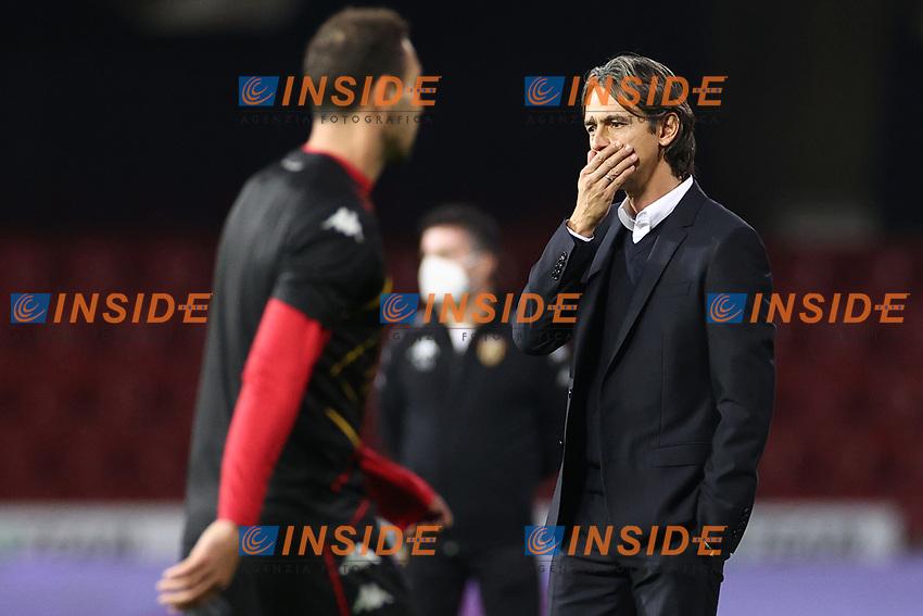 Filippo Inzaghi coach of Benevento Calcio dejection<br /> prior to the Serie A football match between Benevento Calcio and Spezia Calcio at stadio Ciro Vigorito in Benevento (Italy), November 7th, 2020. <br /> Photo Cesare Purini / Insidefoto