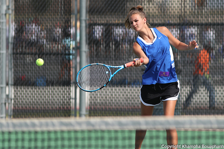Boswell plays El Paso Burgess in high school tennis at Boswell on Friday, August 9, 2019. (Photo by Khampha Bouaphanh)