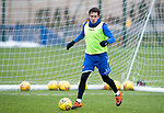 St Johnstone Training…18.10.19<br />Danny Swanson pictured during training this morning at McDiarmid Park ahead of tomorrow's game at St Mirren<br />Picture by Graeme Hart.<br />Copyright Perthshire Picture Agency<br />Tel: 01738 623350  Mobile: 07990 594431