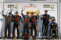#74 Compass Racing, Audi RS3 LMS TCR, TCR: Rodrigo Sales, Kuno Wittmer,  #77 Compass Racing, Audi RS3 LMS TCR, TCR: Britt Casey Jr, Tom Long,  #54 JDC-Miller MotorSports, Audi RS3 LMS TCR, TCR: Michael Johnson, Stephen Simpson,  podium