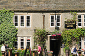 The Red Lion Hotel and public house in the village of Burnsall, Yorkshire Dales National Park.