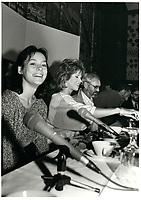 Normand Jewison, Jane Fonda ,Marielle Hemmingway <br /> au Festival des Films du Monde 1985<br /> <br /> <br /> PHOTO : Agence Quebec Presse