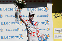 4th September 2020; Millau to Lavaur, France. Tour de France cycling tour, stage 7;  Ag2r La Mondiale Cosnefroy, Benoit Lavaur  on the podium