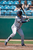 Lancaster JetHawks center fielder Forrest Wall (7) at bat during a California League game against the San Jose Giants at San Jose Municipal Stadium on May 13, 2018 in San Jose, California. San Jose defeated Lancaster 3-0. (Zachary Lucy/Four Seam Images)