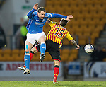 St Johnstone v Partick Thistle....17.01.15  SPFL<br /> Gary McDonald and Kallum Higginbotham<br /> Picture by Graeme Hart.<br /> Copyright Perthshire Picture Agency<br /> Tel: 01738 623350  Mobile: 07990 594431