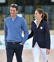 WELLINGTION, FL - FEBRUARY 09: SATURDAY NIGHT LIGHTS: Jessica Rae Springsteen seen happy and smitten with new boyfriend Lorenzo de Luca before she participates in Class 101 - FEI CSI5* $391,000 Fidelity Investments Grand Prix where the winner was Martin Fuchs (Swiss) second place was Kent Farrington (USA) and third was Conor Swail (IRE). The Winter Equestrian Festival (WEF) is the largest, longest running hunter/jumper equestrian event in the world held at the Palm Beach International Equestrian Center. Jessica Rae Springsteen (born December 30, 1991) is an American show jumping champion rider who has represented the United States in the Show Jumping World Cup and the 2012 FEI Nations Cup.Jessica is the second child and only daughter of Bruce Springsteen and Patti Scialfa on February 09, 2019  in Wellington, Florida.<br /> <br /> People:  Jessica Rae Springsteen, Lorenzo de Luca