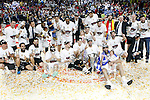 Real Madrid's team celebrates the victory in the Euroleague Final Match. May 15,2015. (ALTERPHOTOS/Acero)