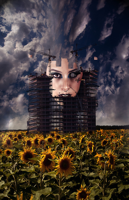 Photo manipulated art, concept image.<br /> Model Miss Fran Love
