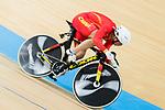 The team of China with Li Jianxin, Luo Yongjia and Xu Chao compete in Men's Team Sprint - 1st Round match as part of the 2017 UCI Track Cycling World Championships on 12 April 2017, in Hong Kong Velodrome, Hong Kong, China. Photo by Victor Fraile / Power Sport Images