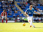 St Johnstone v East Fife…14.07.18…  McDiarmid Park    League Cup<br />Liam Craig hits a free kick<br />Picture by Graeme Hart. <br />Copyright Perthshire Picture Agency<br />Tel: 01738 623350  Mobile: 07990 594431