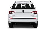 Straight rear view of 2019 Skoda Kodiaq Sportline 5 Door SUV Rear View  stock images