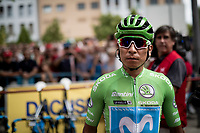Stage 2 winner & Green Jersey Nairo Quintana (COL/Movistar) at sign-on<br /> <br /> Stage 3: Ibi. Ciudad del Juguete to Alicante (188km)<br /> La Vuelta 2019<br /> <br /> ©kramon
