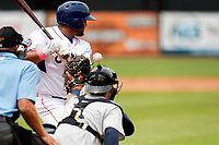 Tennessee Smokies designated hitter Erick Castillo (16) at bat against the Montgomery Biscuits on May 9, 2021, at Smokies Stadium in Kodak, Tennessee. (Danny Parker/Four Seam Images)