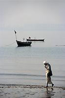 Am Chowpathi Beach, Bombay (Mumbai), Maharashtra, Indien