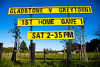 Action from the Wairarapa Bush premier club rugby union match between Gladstone and Greytown at the Gladstone Sports Complex in Martinborough, New Zealand on Saturday, 11 July 2020. Photo: Dave Lintott / lintottphoto.co.nz