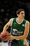 Unicaja´s Carlos Suarez during 2014-15 Liga Endesa match between Real Madrid and Unicaja at Palacio de los Deportes stadium in Madrid, Spain. April 30, 2015. (ALTERPHOTOS/Luis Fernandez)