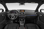 Stock photo of straight dashboard view of 2021 Audi Q2 Edition-One 5 Door SUV Dashboard