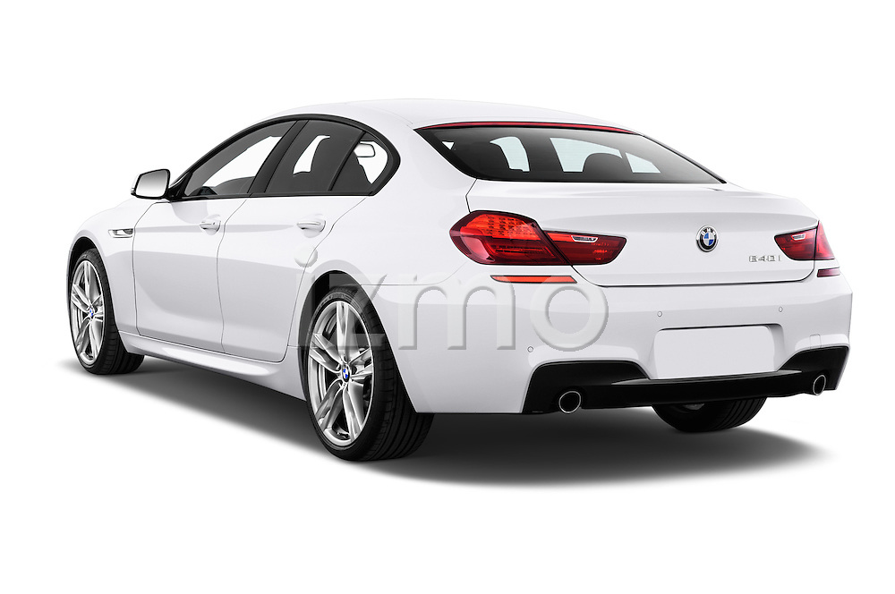 Car pictures of rear three quarter view of 2016 BMW 6 Series 640i Gran Coupe 4 Door Sedan Angular Rear