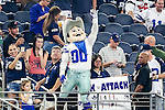 The Dallas Cowboys mascot ,Rowdy,in action during the pre-season game between the Houston Texans and the Dallas Cowboys at the AT & T stadium in Arlington, Texas.
