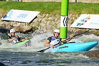 5th September 2021; Parc Olimpic del Segre, La Seu D'Urgell ICF Slalom World Cup, Men's  Extreme Slalom Semi-Finals;  Munsch (SUI) and Boris Neveu (FRA)