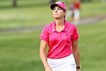 USA Paula Creamer reacts after missing her putt on the 7th hole at the LPGA Championship 2011 Sponsored By Wegmans at Locust Hill Country Club in Rochester, New York on June 24, 2011
