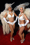 """Milan, at left, and Laura Makkaoui from J&D Entertainment at the San Luis Salute to """"The Italian Riviera"""" at the Galveston Island Convention Center at the San Luis Friday  Feb. 20, 2009.(Dave Rossman/For the Chronicle)"""