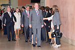 08.10.2012. Spanish Royals, Juan Carlos and Sofia, preside the ceremony commemorating the 20th anniversary of the Thyssen-Bornemisza Museum located in the Villahermosa Palace, in Madrid, Spain. In the image Jose Ignacio Wert (Minister of Culture of Spain), Carmen Thyssen and King Juan Carlos (Alterphotos/Marta Gonzalez)