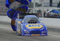 May 1, 2011; Baytown, TX, USA: NHRA funny car driver Ron Capps during the Spring Nationals at Royal Purple Raceway. Mandatory Credit: Mark J. Rebilas-