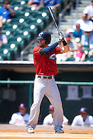 Columbus Clippers outfielder Tyler Naquin (22) at bat during a game against the Buffalo Bisons on July 19, 2015 at Coca-Cola Field in Buffalo, New York.  Buffalo defeated Columbus 4-3 in twelve innings.  (Mike Janes/Four Seam Images)