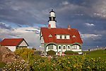 Portland Head Light on Casco Bay, Cape Elizabeth, ME, USA