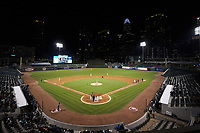 The Wake Forest Demon Deacons faced the Charlotte 49ers in NCAA baseball action at BB&T BallPark on March 13, 2018 in Charlotte, North Carolina.  The 49ers defeated the Demon Deacons 13-1.  (Brian Westerholt/Four Seam Images)