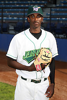 June 27th 2008:  Pitcher Kedrick Martin of the Jamestown Jammers, Class-A affiliate of the Florida Marlins, during a game at Russell Diethrick Park in Jamestown, NY.  Photo by:  Mike Janes/Four Seam Images
