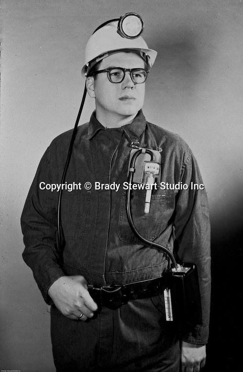 Client: Mine Safty Appliances (MSA)<br /> Ad Agency: WF Minnick & Associates<br /> Contact:<br /> Product: Miner Hat & Lamp and Oxygen Detector<br /> <br /> Location: Studio work at 211 Empire Building in Pittsburgh<br /> <br /> View of a coal miner wearing a miner's hat and oxygen detector.