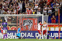 Harrison, NJ - Wednesday Aug. 03, 2016: Alex Muyl celebrates scoring during a CONCACAF Champions League match between the New York Red Bulls and Antigua at Red Bull Arena.
