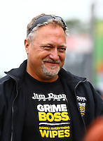 Aug 17, 2014; Brainerd, MN, USA; NHRA funny car driver Jeff Arend during the Lucas Oil Nationals at Brainerd International Raceway. Mandatory Credit: Mark J. Rebilas-